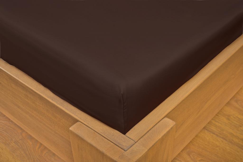 ... Szatén lepedő (200 x 200 cm) - tm. barna   csokoládészínű aed1cd3952