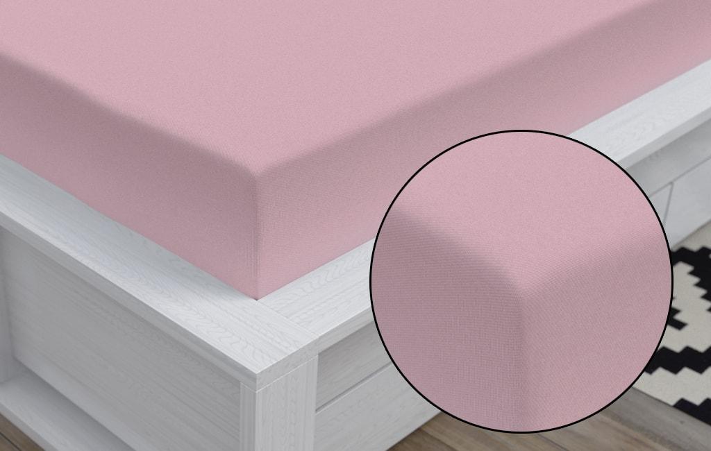 Bedario.hu - Jersey lepedő (90 x 200 cm) - világos rózsaszín ... a423591b2b