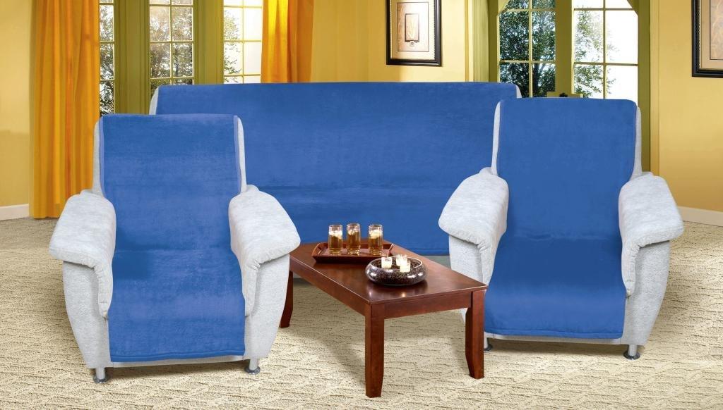 Bedario.hu - Ülőgarnitúra pléd Micro 3+1+1 kék - Ülő garnitúra ... d8bc194355