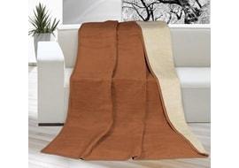 Egyszínű takaró 150x200cm barna bézs 2122a87681