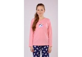 Gyerek hosszú pamut pizsama kis tehén. 5c63f47b95